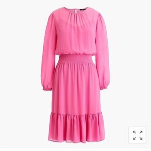 J.CREW Cinched-waist dress in chiffon